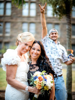 photobomb of bride at wedding reception with nikon d4 and 58mm lens _45B0793