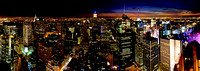 Panorama from the Rock in New York City