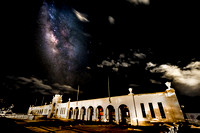 Milky Way above Waikiki Natatorium War Memorial in Honolulu Hawaii with Nikon d810a _aga1503_5 composite
