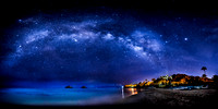 Dream Art Series: Milky Way over the Mokulua Islands and Lanikai Beach