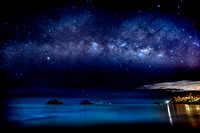 Dream Art Series: Milky Way over Lanikai Beach and Mokulua Islands