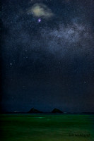 Milky Way over Mokulua Islands in Lanikai with Nikon D810a and 105e lens _N8A0403