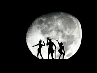Supermoon Silhouette Photoshoot Project