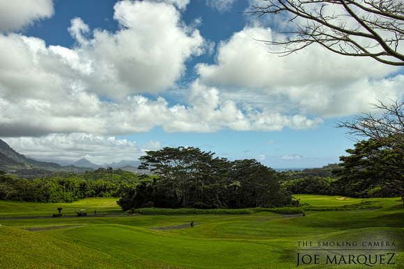 golf course hawaii clouds blue sky sigma merrill dp1 _SDI0033