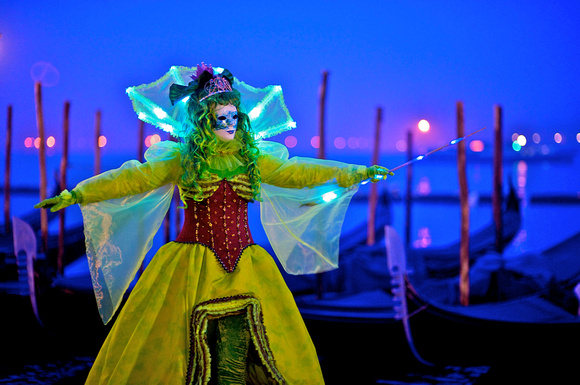 Green Princess Mask at Venice Carnival
