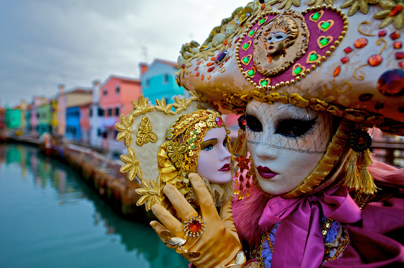 Colorful Mask in Burano, Italy