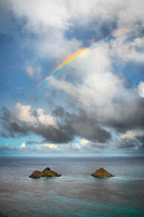 Dream Art Series: Rainbow over the Mokulua Islands in Lanikai