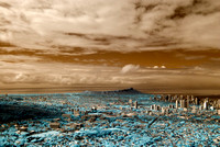 Infrared Image of Honolulu, Waikiki and Diamond Head