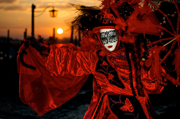 Red Mask at Venice Carnival